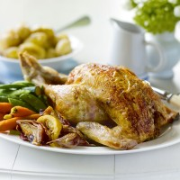 Lemon roast chicken with lemon thyme recipe