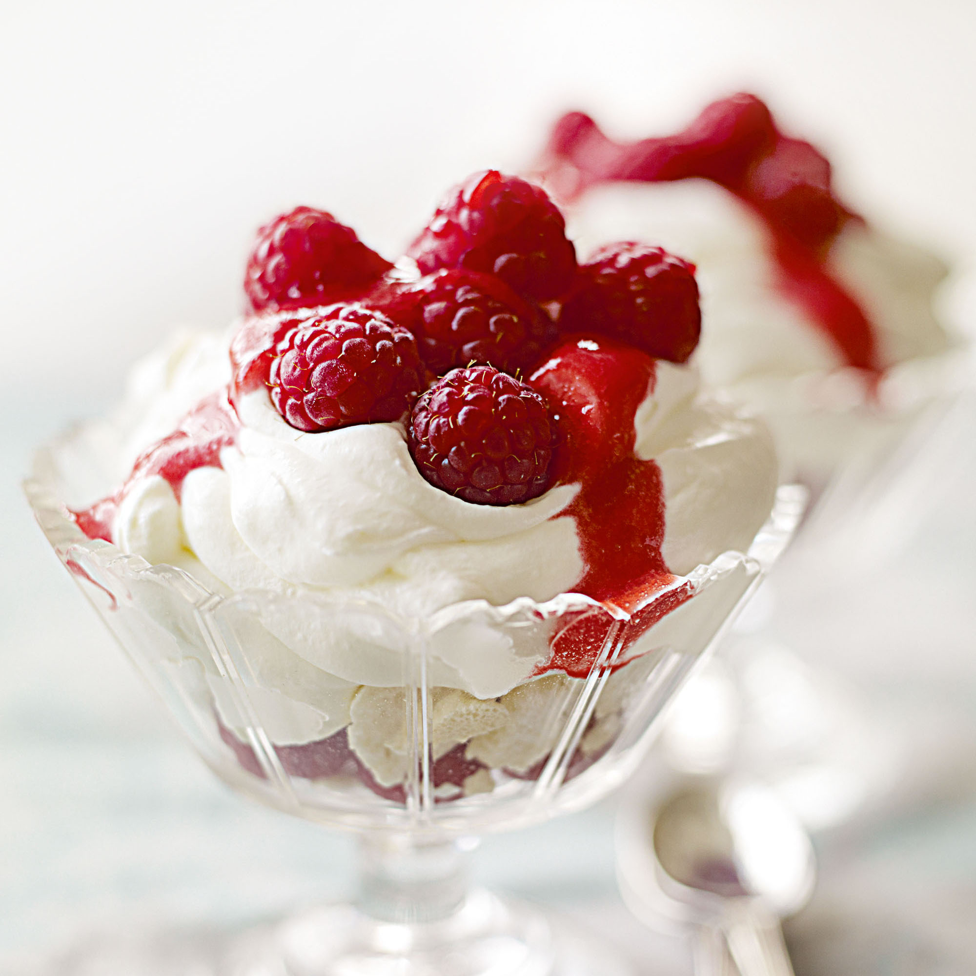 Elderflower Syllabub with Raspberries and Crushed ...