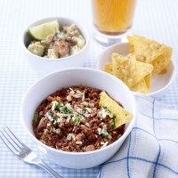 Black-eyed bean and beef chilli recipe