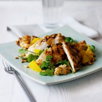Chargrilled chicken, orange and watercress salad recipe