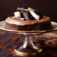 Sticky mocha cake with chestnut cream recipe