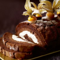 Chocolate roulade with Baileys cream recipe