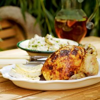 Roast chicken with lemon ricotta recipe
