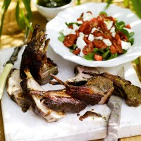 Mediterranean herby lamb racks recipe