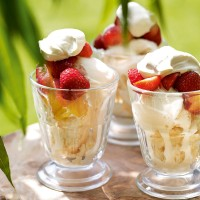 Five-minute fruit sundae recipe