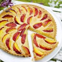Fresh Nectarine and Almond Tart