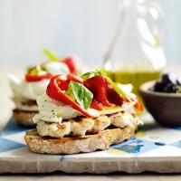 So simple mozzarella open sandwich recipe