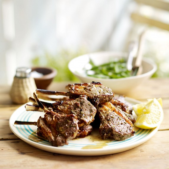 ... and Garlic Lamb Cutlets with Lemony Green Beans - Woman And Home