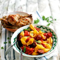 Chorizo and pasta salad recipe