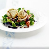 Melted goats' cheese with figs and balsamic recipe