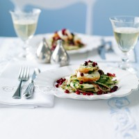 Fennel and lobster salad with pomegranate recipe