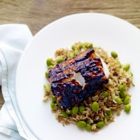 Miso-grilled Cod with Edamame Fried Rice