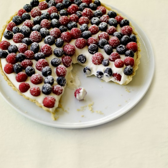 Mixed Berry Tart with Elderflower Pastry Cream recipe-recipe ideas-new recipes-woman and home