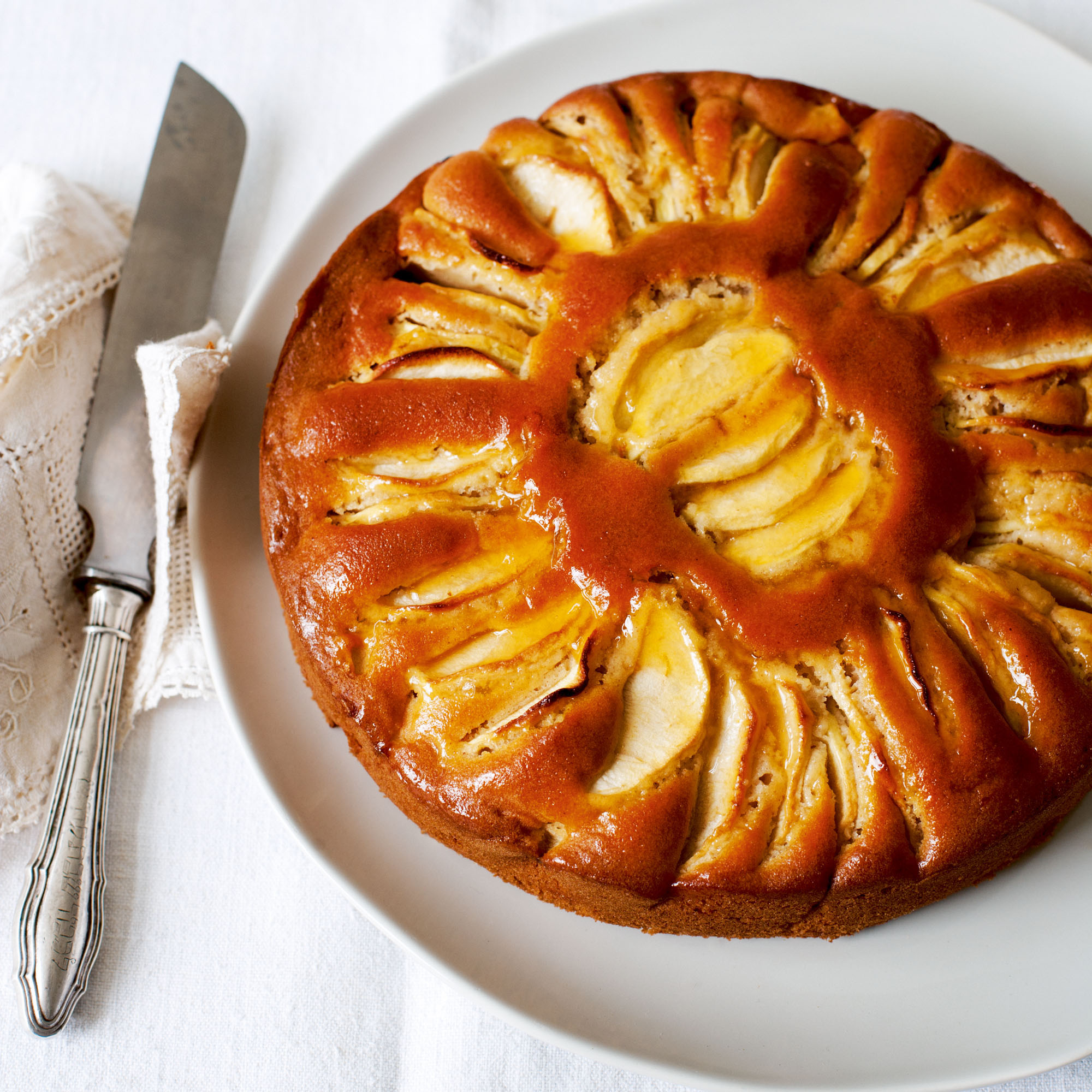 Apple Cake Made With Olive Oil