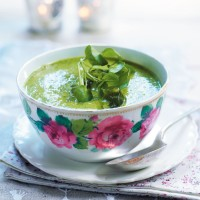 Chilled Watercress, Pea and Mint Soup