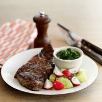 Sirloin steaks with chimichurri sauce recipe