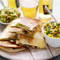 Cajun pork quesadillas with corn salsa recipe