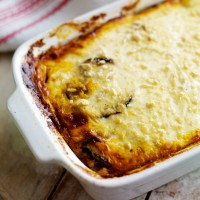 Spiced beef moussaka recipe