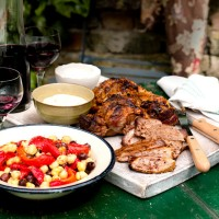 Harissa and Yogurt Marinated Leg of Lamb