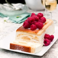 Iced lemon terrine