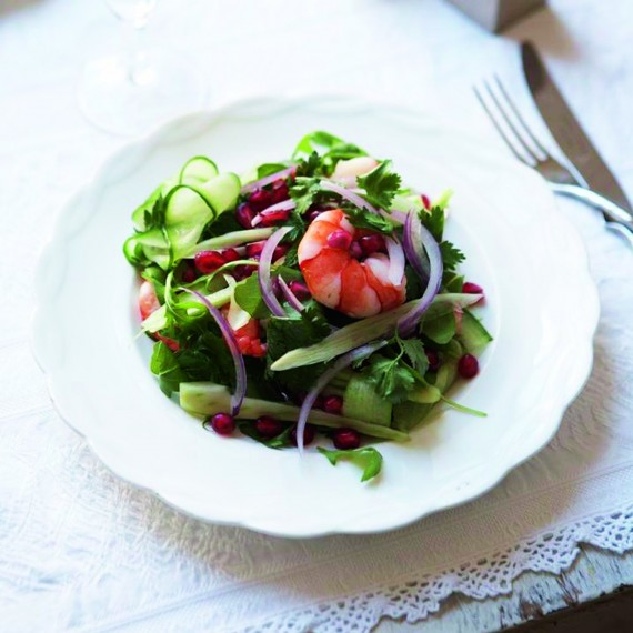 christmas day starter recipes prawn and fennel salad. Black Bedroom Furniture Sets. Home Design Ideas