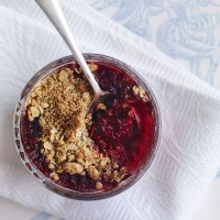 Individual blackberry crumbles recipe
