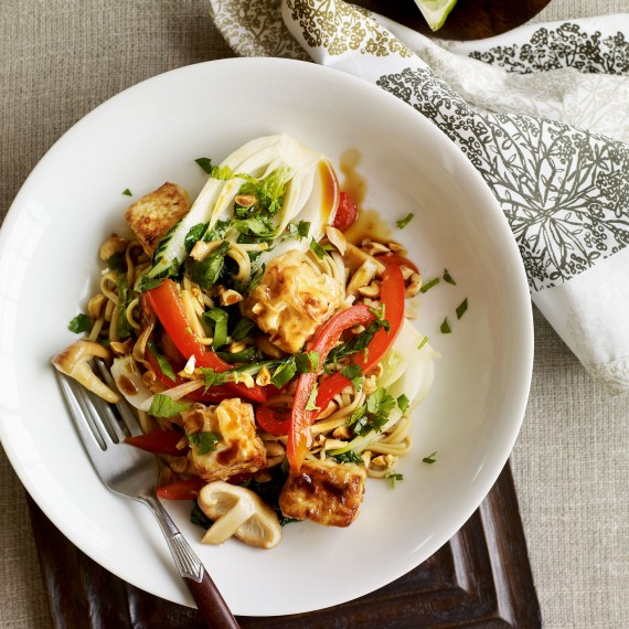 Stir-Fry Recipes - Tofu and Peanut Stir-Fry with Ramen ...