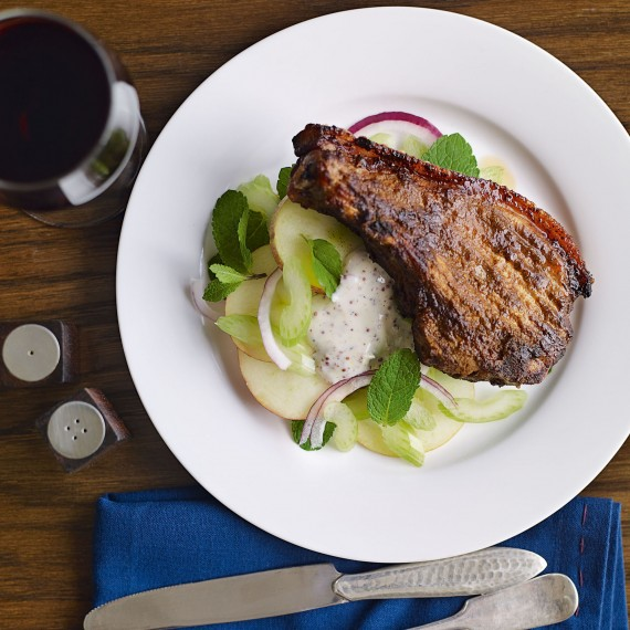Moroccan-Spiced Chops with a Crunchy Salad Recipe-recipe ideas-new recipes-woman and home