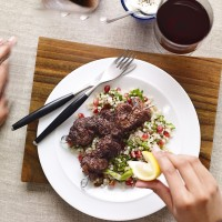 Sumac-spiced lamb kebabs with couscous recipe