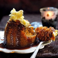Steamed ginger pudding with butterscotch sauce recipe