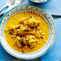 Fragrant cauliflower curry with Keralan lemon rice recipe
