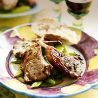 Marinated lamb cutlets with rosemary and red wine vinegar recipe