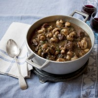 Rich Venison Casserole with Button Mushrooms