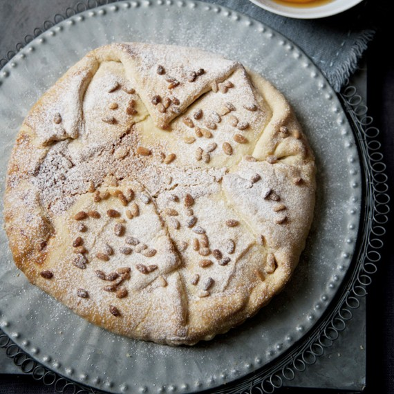 Toasted Pine Nut Tart with Clementine Syrup - Woman And Home