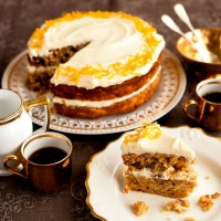 Nutty orange and parsnip cake recipe