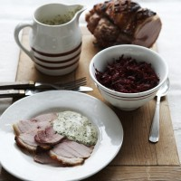 Ham Cooked in Suffolk Cider with Parsley Sauce