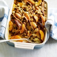 Fruit bread and butter pudding with apricot recipe