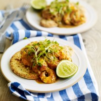 Prawn and coconut balti curry with naan bread recipe