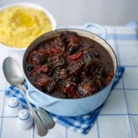 Oxtail Casserole with Capers, Olives and Tomatoes