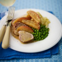 Pork tenderloin with apples and cider vinegar recipe