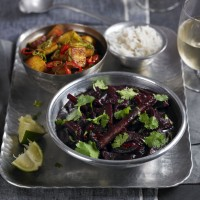 Beetroot and coconut curry with marinated paneer recipe