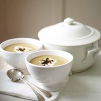 Chestnut and porcini mushroom soup recipe