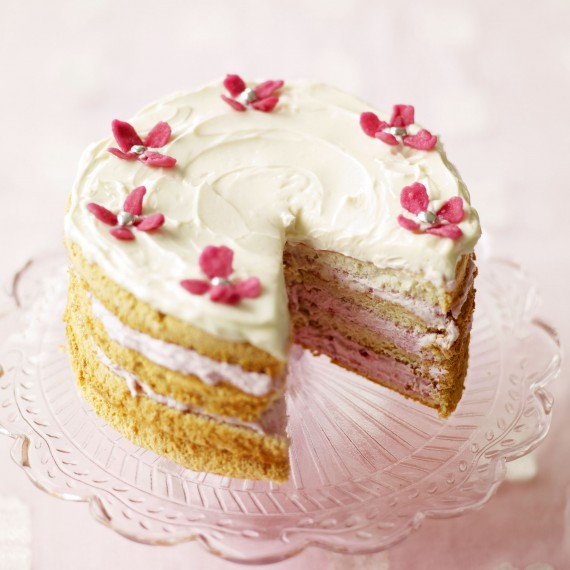 Raspberry and Mascarpone Angel Cake recipe-Cake recipes-recipe ideas-new recipes-woman and home