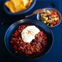 Chilli with avocado salsa recipe
