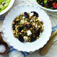 Beetroot, quinoa and chickpea salad recipe
