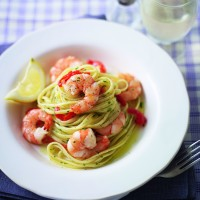 King prawn and peppadew linguine recipe