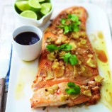 Ginger and lemongrass salmon recipe