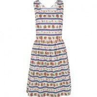 Cath Kidston Ribbon Rose Stripe Dress