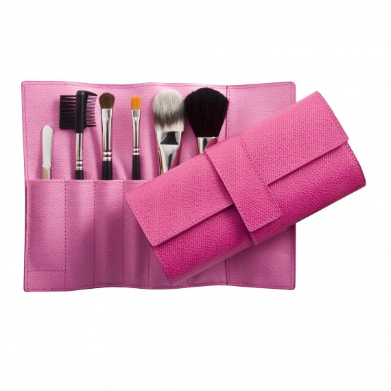 Smythson Make-Up Brush Roll-makeup-beauty accessories-makeup brushes-beauty tips-woman and home
