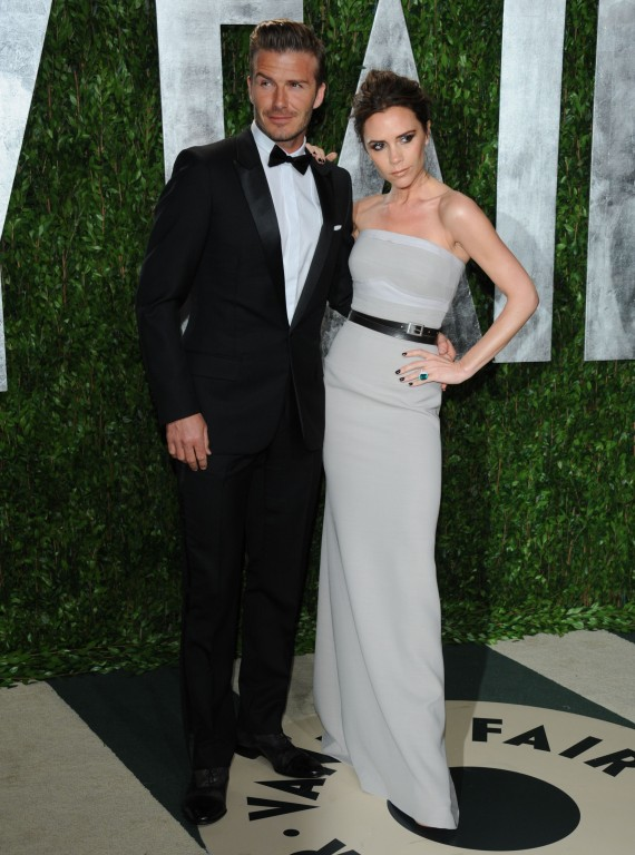 Victoria and David Beckham-Vanity Fair Oscar Party-woman and home